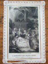 Antique holy card – L'adoration des petits anges. #5523 Letaille Boumard. B79