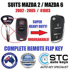 MAZDA 2 6 41803 CAR KEY LESS REMOTE TRANSPONDER FLIP KEY FOB 2002 2003 2004 2005