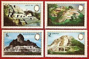 ZAYIX - 1982 Belize 680-683 MNH - set of 4 - Mayan Ruins