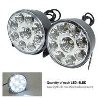 Paar 9 LED Auto DRL Tagfahrlicht Nebelscheinwerfer Rund Lampe Universal DC 12V