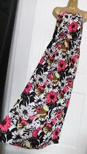 NEXT ● size 20 ● white black floral boob tube strapless maxi dress womens ladies