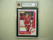1986/87 O-PEE-CHEE NHL HOCKEY CARD #11 STEVE YZERMAN KSA 8 NMMT SHARP+ 86/87 OPC