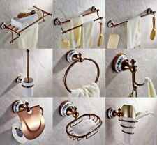 Rose Gold Brass Modern Bathroom Accessories Wall Mounted Bathroom Hardware Set