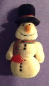 """4"""" MARY MEYER SNOWMAN OLD WORLD CURIOS FULLY JOINTED  ORIGINAL TAG"""