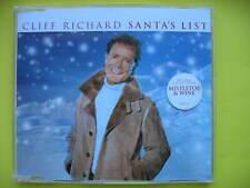 CLIFF RICHARD-SANTA'S LIST. 2 TRACK CHRISTMAS CD SINGLE. MISTLETOE & WINE.EX CON