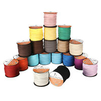 3mm Flat Leather Cords Faux Suede Cord 100 Yards Roll for Diy Jewelry Making