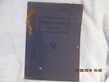 1931 Yearbook Owensville High School IN Great Photos & No Writing 12th Kickapoo