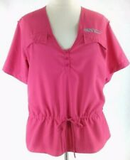 NEW Piscavore 3X Top Pink Outdoor Hiking Fishing Shirt Breathable Drawstring NWT