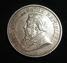 South Africa Transvaal Half-Crown Kruger 1896 almost UNC? removed from a Brooch