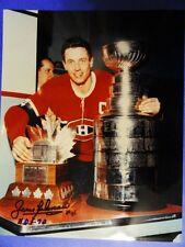 JEAN BELIVEAU #4 AUTOGRAPHED COA 8x10 1972 MONTREAL CANADIENS STANLEY CUP