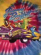 Jimmy Buffett T-shirt 2009 Summers Cool Tour Tie Dye Men Xl Tee Parrot Sailboat