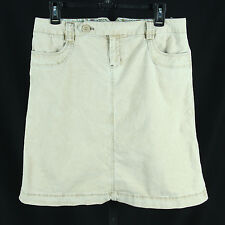 Gap Corduroy A-Line Skirt 6 Small Stretch Cotton Khaki Jeans Skirt Knee Length