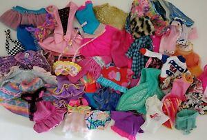 Vtg Lot Of Barbie Doll Clothes 1980s 90s Modern Dresses Tops Bathing Suit Skirt