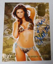 Alison Waite Signed 2009 BenchWarmer Boot Camp Insert Card H77 Playboy Autograph