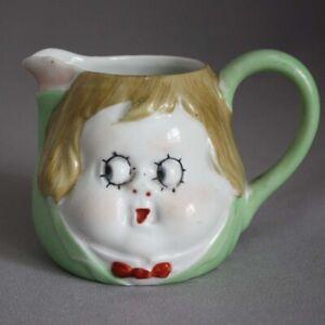 VTG Genuine NIPPON GOOGLY Google EYE CREAMER Cream Pitcher Doll Face Peek-a-Boo
