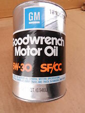 Vintage GM Goodwrench Motor Engine Oil 5w-30 SF/CC Quart Can 1052765 NEW