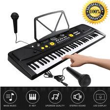 61Key Digital Piano Music Electronic Keyboard Instrument w/Mic Beginner / Adult
