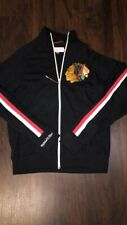 Chicago Blackhawks Mitchell & Ness Vintage Authentic Warm Up Jacket Sz Small