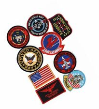 Top Gun movie Pete Mitchell Maverick 9pc Iron On Sew on Patch set
