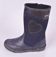 Richter Girls 7200 SympaTex Blue Leather  Suede Zip Boots UK 8 EU 26 US 8.5