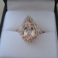 2.14ct Nigerian Morganite Rose Gold Ring