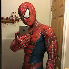 Raimi Spiderman Cosplay Costume 3D Eyes Spider-Man Halloween Zentai Jumpsuit