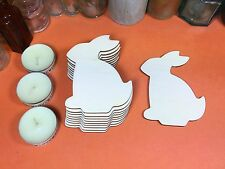 WOODEN RABBIT UPRIGHT Shapes 10cm (x10) wood easter bunny shape crafts blanks