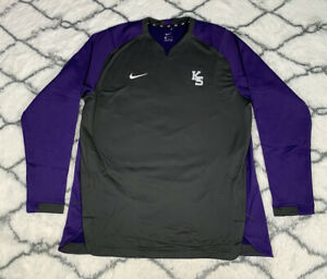 NIKE Kansas State Baseball Team Issue Dugout Sweatshirt Jacket Size XL *NEW*