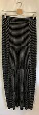 Ann Taylor LOFT Striped Maxi Skirt Size XSmall Black/White