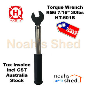 """RG6 Torque Wrench 7/16"""" 30lbs F Connectors Telstra NBN HFC Made in Taiwan"""