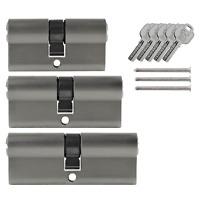 3x Tür Zylinder Schloss 60/70/80mm gleichschliessend +5 Schlüssel Schliessanlage