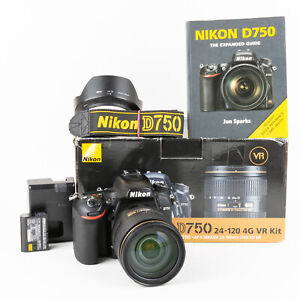 Nikon D750 and Nikon AF-S 24-120mm F4 Lens - 13,505 Shots - Boxed + Handbook VGC