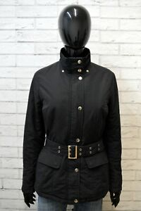 Refrigue Donna Taglia S Giacca Nera Giubbotto Parka Jacket Coat Black Woman