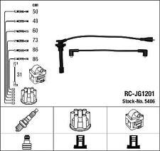 IGNITION HT LEAD SET NGK RC-JG1201            5406