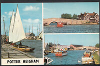 Norfolk Postcard - Views of Boating at Potter Heigham   MB240