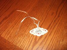 "Longaberger Baskets Mothers Day Ceramic Pottery Tie On ""To Mom, With Love"""