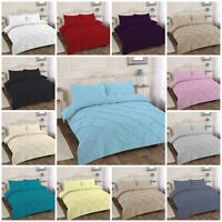 NEW ALEXANDER PIN TUCK DUVET QUILT COVER BED SET SINGLE DOUBLE KING SUPER DOUBLE