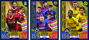 PES Match Attax Champions League Season 2017/18 GOLD Limited Edition