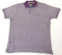 Pierre Cardin Poloshirt Polohemd Herren Gr.XL lila meliert -S1077