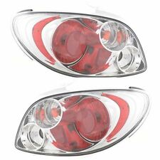 Peugeot 206 (1998-2008) Clear Lens Chrome Rear Back Tail Lexus Lights Lamp -Pair