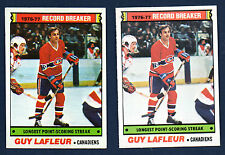 1977-78 OPC & Topps #216 Guy LaFleur Record Breaker NM+ + EX+