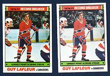 1977-78 OPC & Topps #216 Guy LaFleur Record Breaker NM+ + EX+