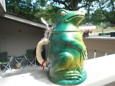 New listing Figural Frog Beer Stein Golden Crown E&R West Germany