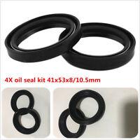 41x53x8/10.5 Front Fork Dust Oil Seal For  Suzuki GSF400 Kawasaki ZX-6R NINJA x4