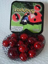 Lady Bug-Net Bag Of 24 Player Mega Marbles & 1 Shooter-Instructions & Facts