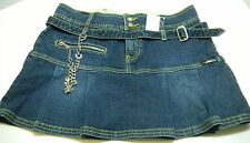 LOST Girl Lost Blue Jeans Division Denim Street Smart Skirt Sz 5 NWT NEW