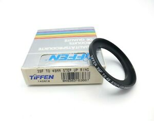 Tiffen 39F to 47mm Step-Up Black Ring for Camera Filters