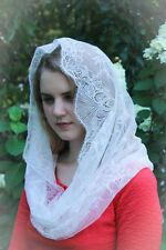 Evintage Veils~ Mantilla~ Chantilly Vintage Inspired Lace Chapel Veil