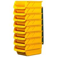 Garage Storage 8 Bins Stackable Wall Mountable Small Parts tool 4-1/10 Plastic