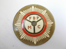 federation of british police motoring club   FBP MC  early plastic badge